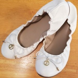 Juicy Couture Ballet Flats White
